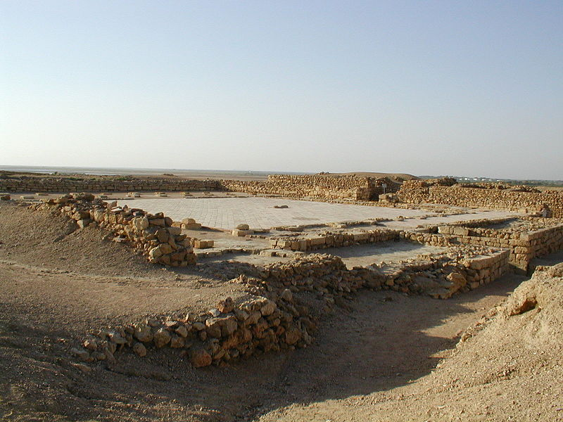 Remains of the mosque at Bhanbhore